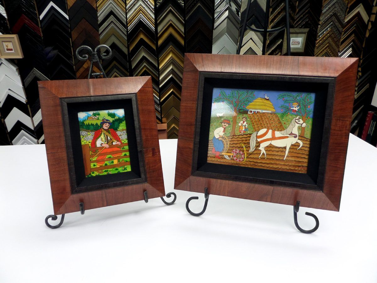 2 small pictures in custom frames